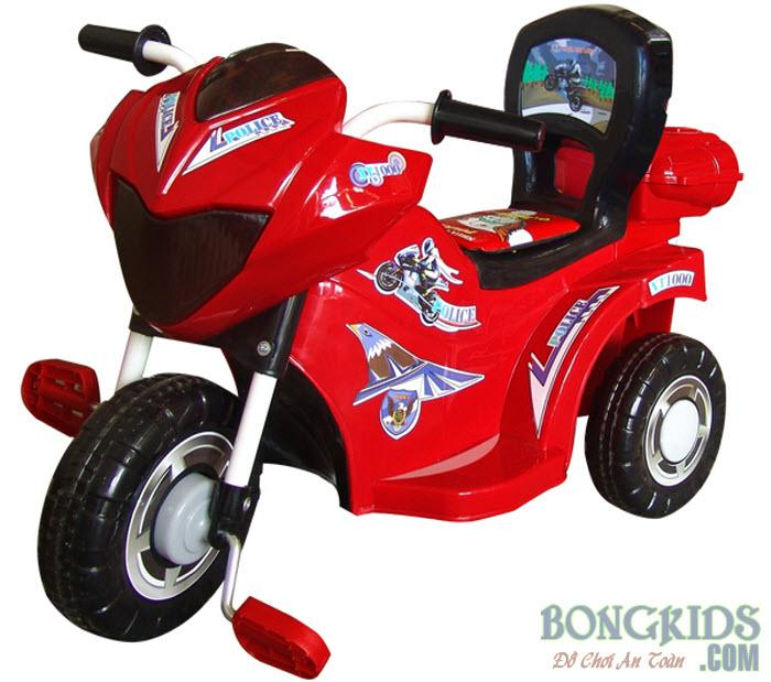 Xe ba bánh cho bé L9 Police màu đỏ