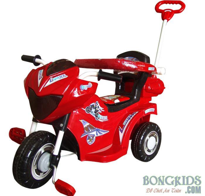 Xe ba bánh cho bé L9 Police màu đỏ - có bảo hiểm
