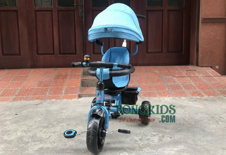 Xe 3 bánh trẻ em 6288 có cần đẩy và mái che 2