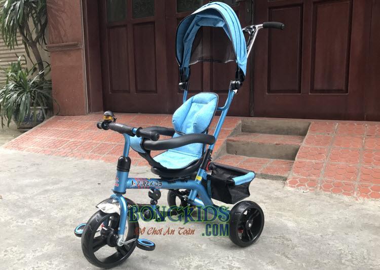 Xe 3 bánh trẻ em 6288 có cần đẩy và mái che 3