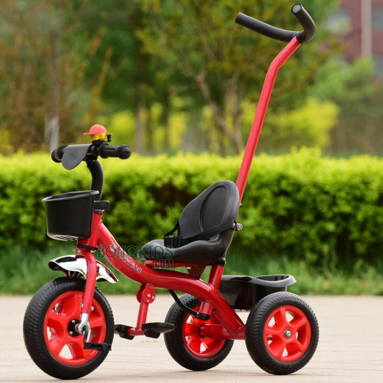 Xe đạp 3 bánh trẻ em có cần TC-506 màu đỏ