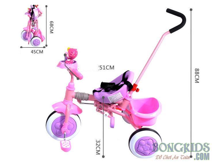 Kích thước xe đạp 3 bánh trẻ em 13817A