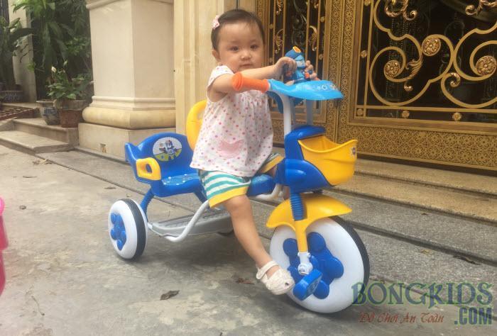 Xe đạp 3 bánh trẻ em 3009N màu xanh