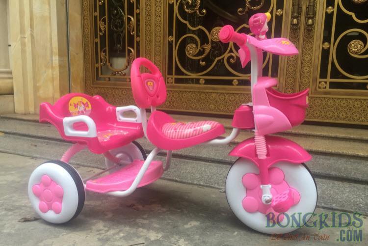 Xe đạp 3 bánh trẻ em 3009N màu hồng