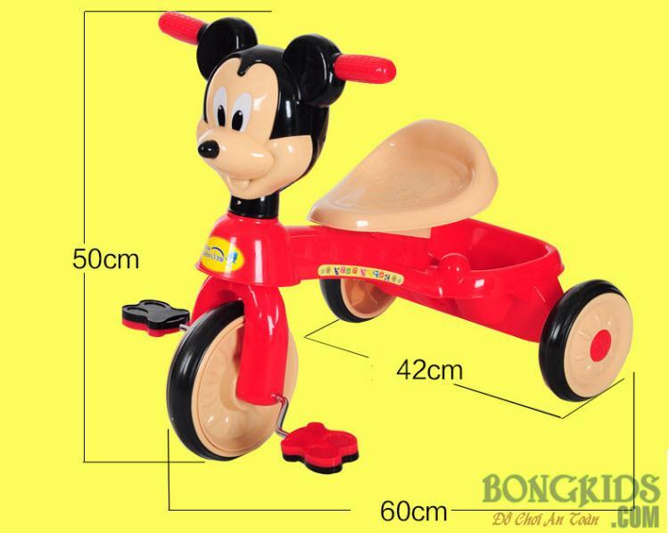 Kích thước xe đạp 3 bánh trẻ em 3018