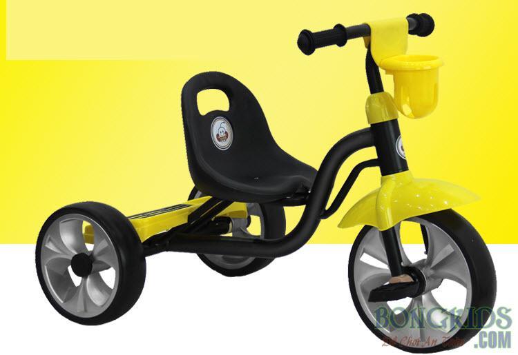 Xe đạp 3 bánh trẻ em 505 màu vàng