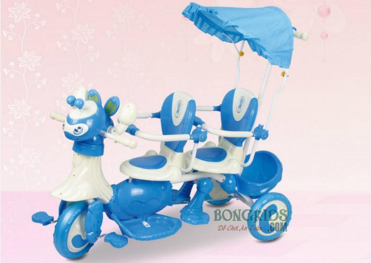 Xe đạp 3 bánh trẻ em 9027 màu xanh
