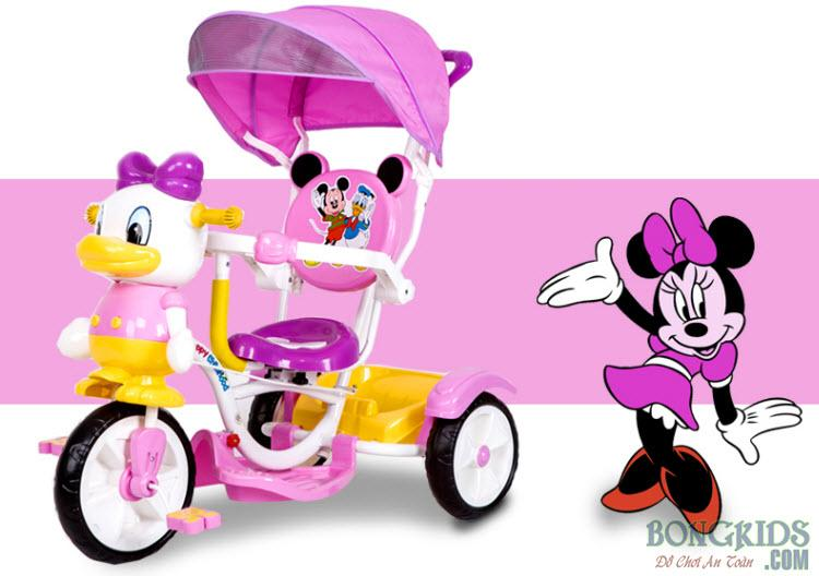 Xe đạp 3 bánh trẻ em FK013 màu hồng