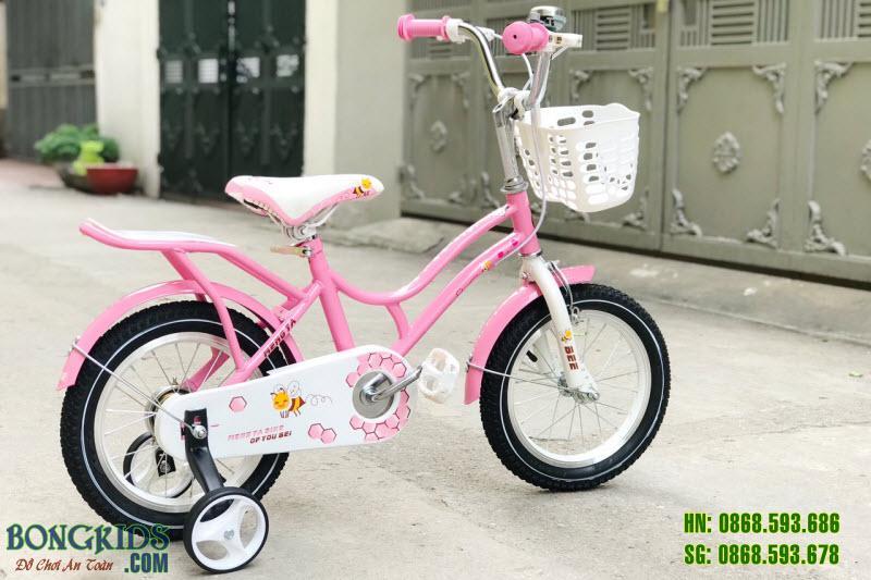 Xe đạp cho bé gái YB màu hồng