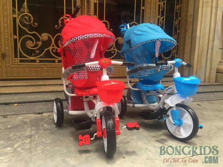 Xe đẩy đạp 3 bánh FK019 có 2 màu
