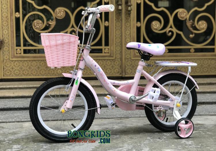 Xe đạp nàng tiên cá cho bé gái-158 màu hồng