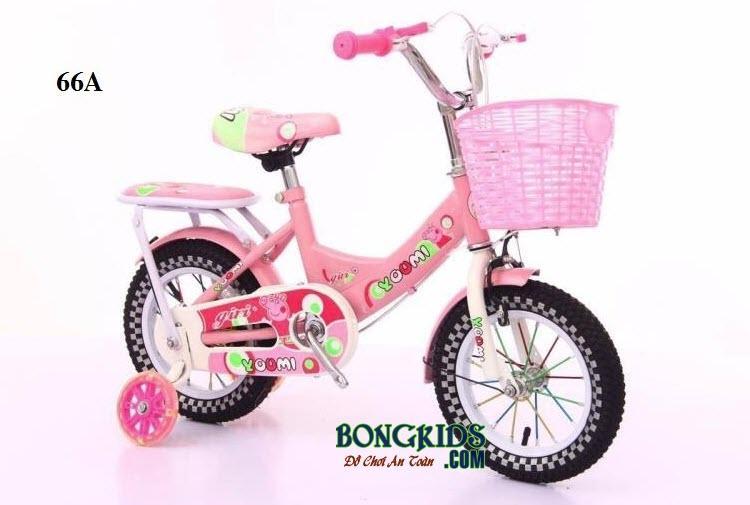 Xe đạp Youmi cho bé gái 66A màu hồng