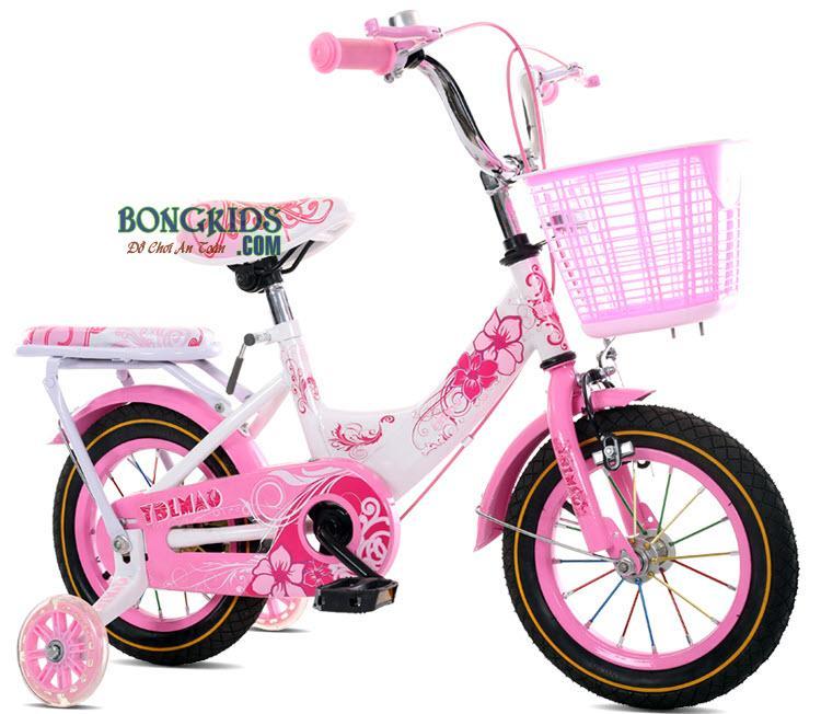Xe đạp trẻ em Youme nữ hồng