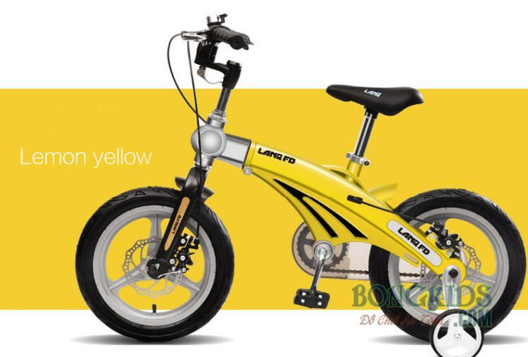 Xe đạp trẻ em FD12 màu vàng