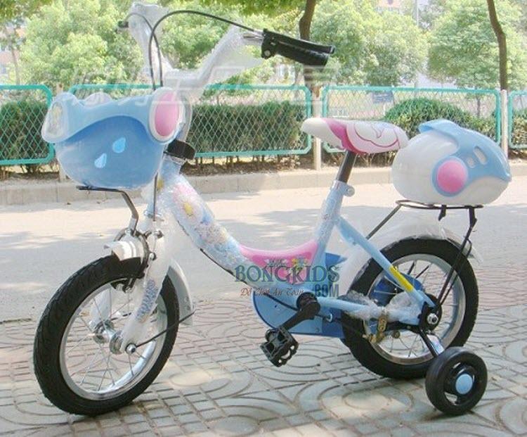 Xe đạp trẻ em G02 màu xanh
