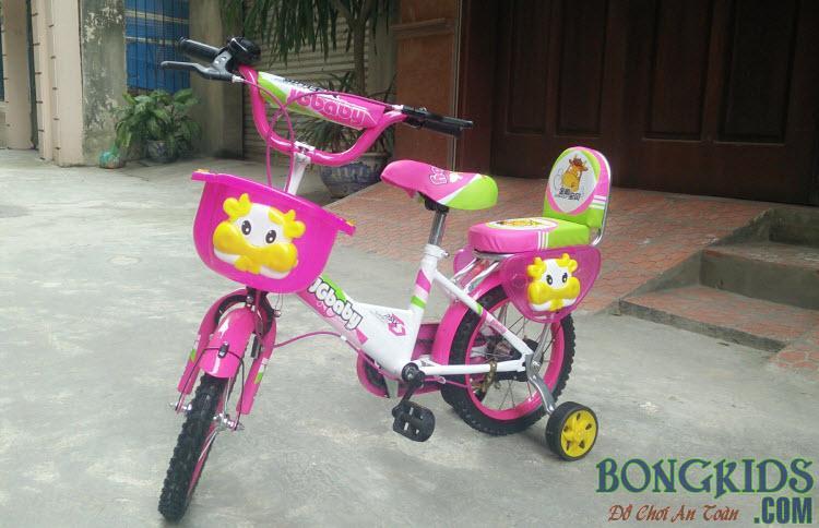Xe đạp trẻ em JGBABY màu hồng