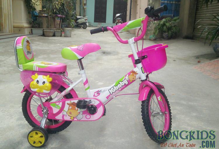 Xe đạp trẻ em JGBABY hồng đẹp