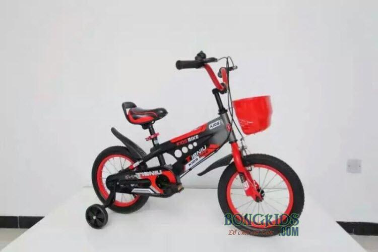 Xe đạp trẻ em Thiết Ngưu màu đỏ