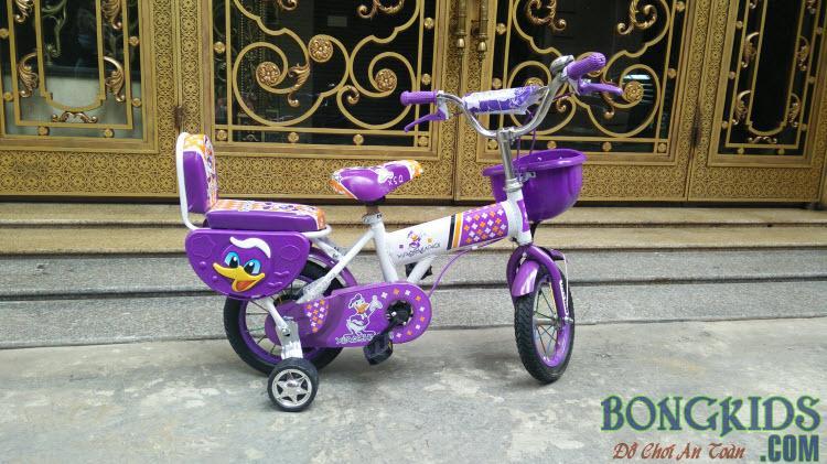 Xe đạp trẻ em XSQ màu tím đẹp