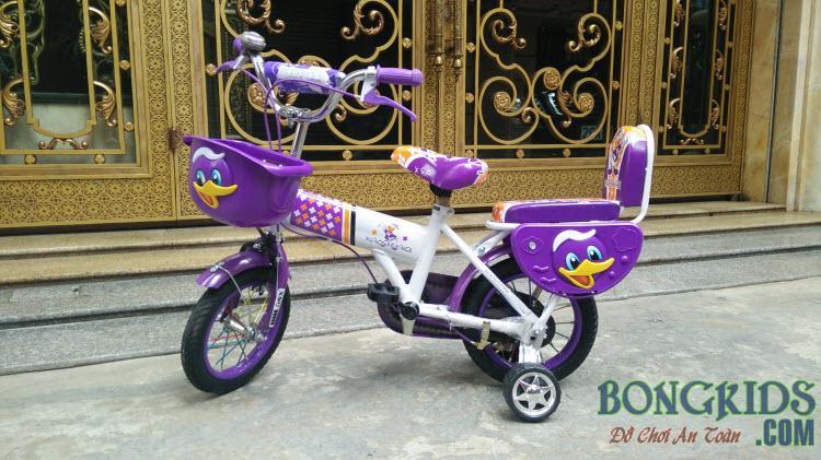 Xe đạp trẻ em XSQ màu tím