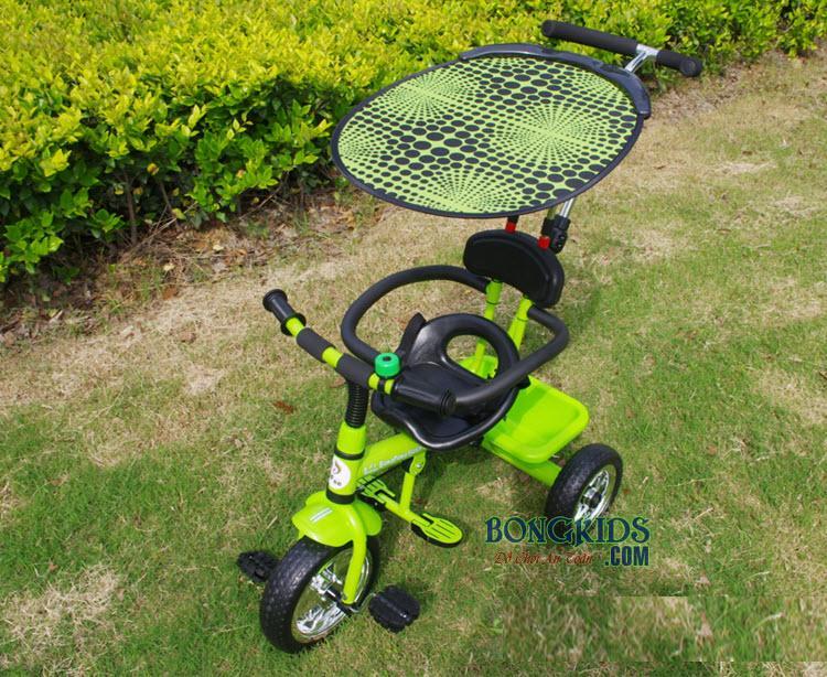 Xe đạp 3 bánh trẻ em T301 màu cốm