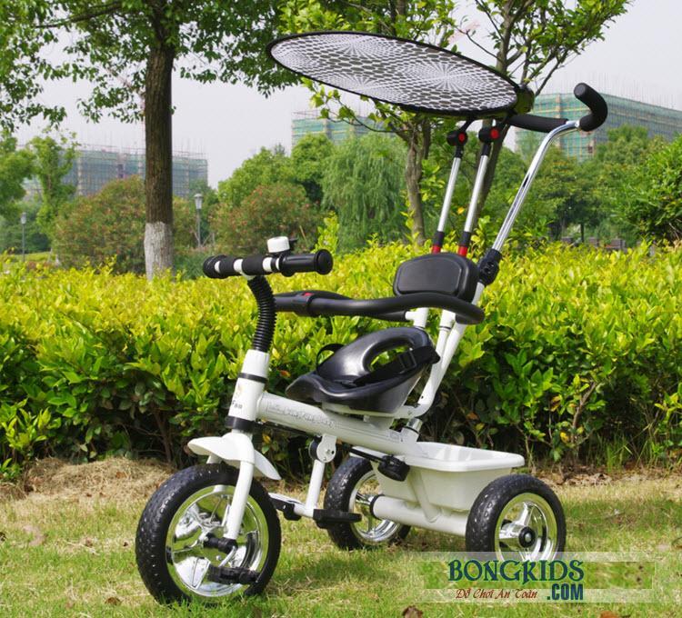 Xe đạp 3 bánh trẻ em T301 trắng