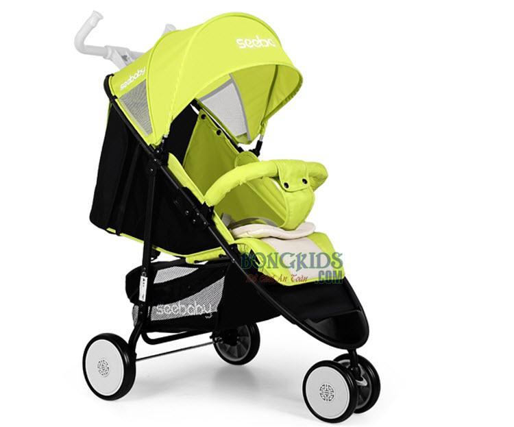 Xe đẩy cho bé Seebaby Q5A xanh lá