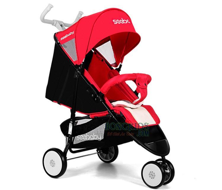 Xe đẩy cho bé Seebaby Q5A đỏ