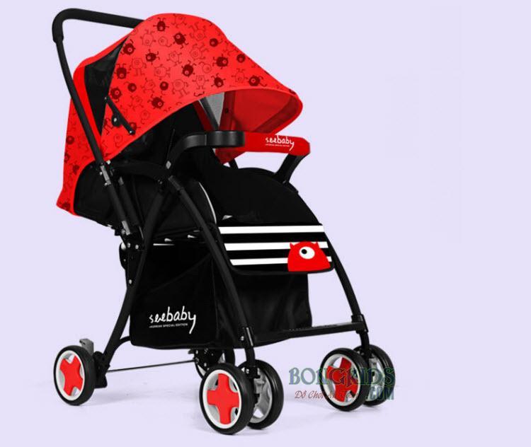 Xe đẩy cho bé Seebaby T08 Mini đỏ