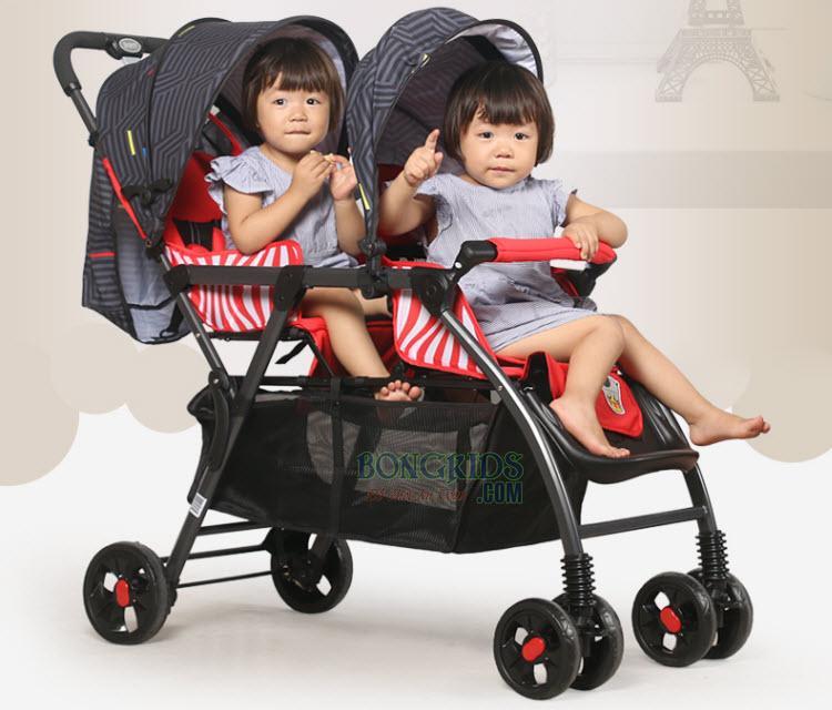 Xe đẩy đôi Baobaohao 705 (ghế trước ghế sau)