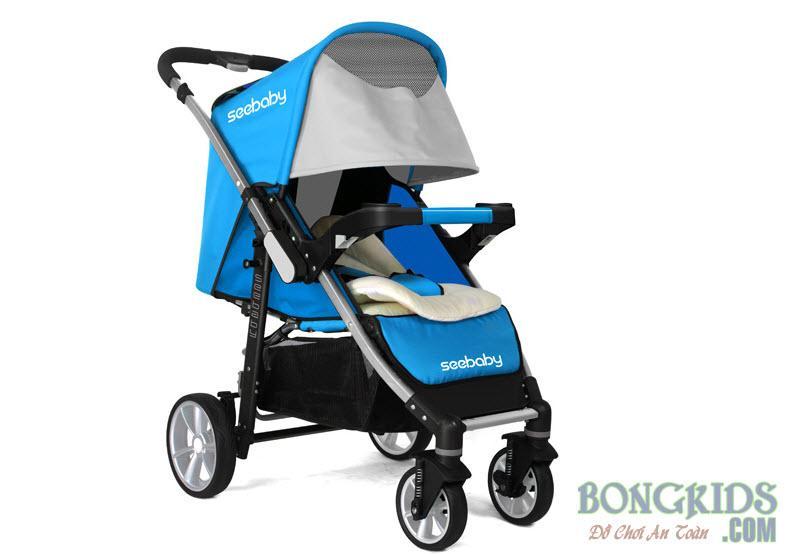 Xe đẩy trẻ em 2 chiều T10A màu xanh dương