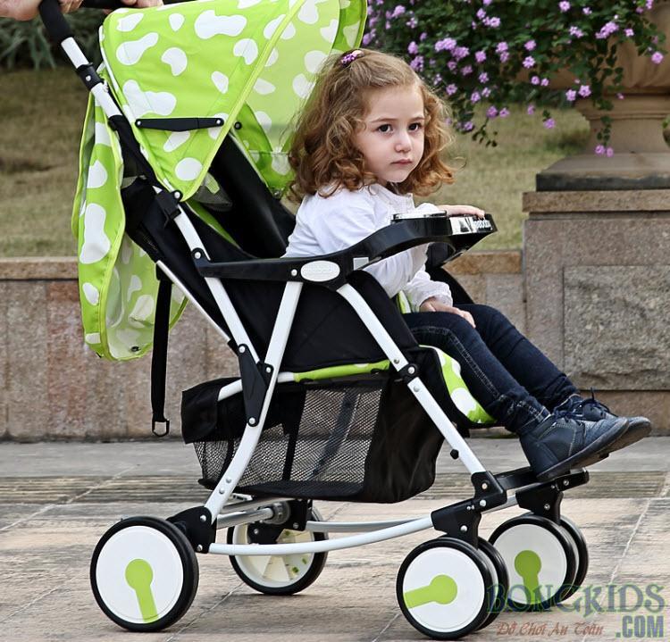 Xe đẩy em bé có bập bênh Seebaby Q4