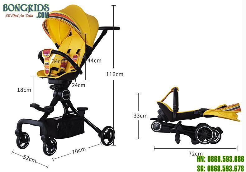 Kích thước của xe đẩy cho bé