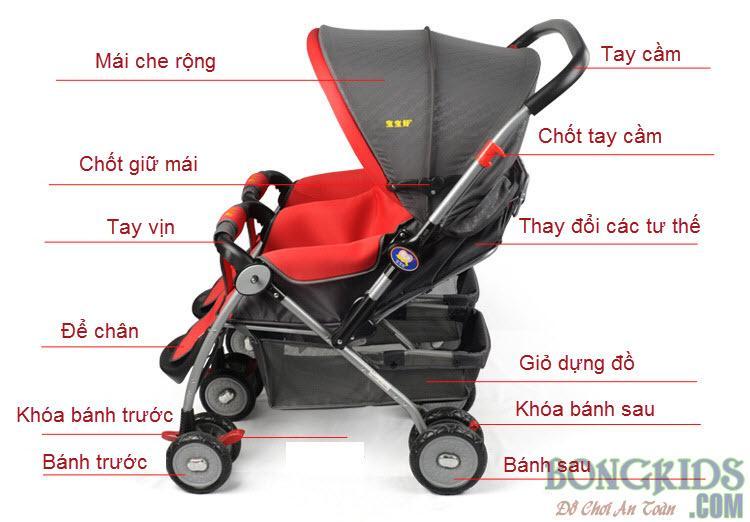 Chi tiết xe đẩy trẻ em 206A