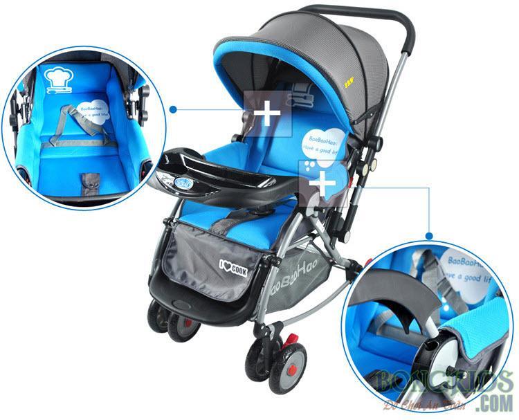 Xe đẩy trẻ em 2 chiều baobaohao 720N