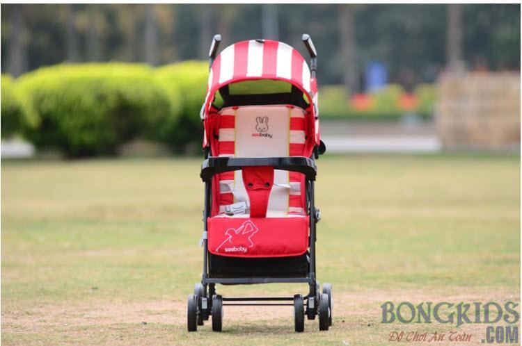 Xe đẩy trẻ em seebaby Q3-1 màu đỏ