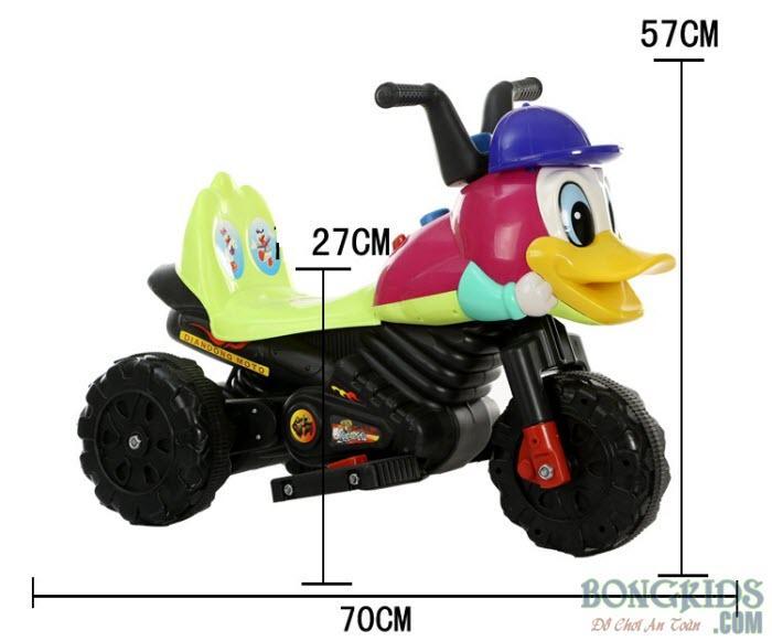 Kích thước xe máy điện 5188 con vịt