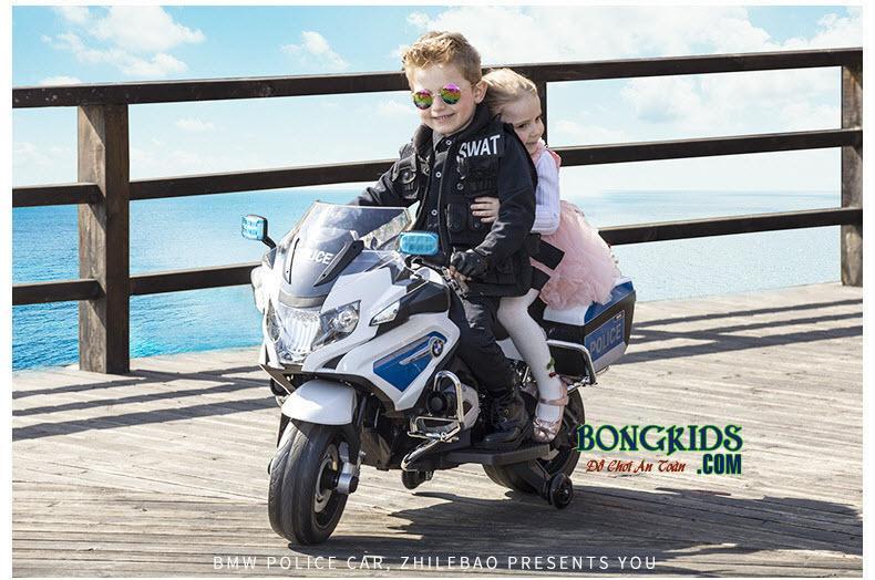 Xe máy điện trẻ em cảnh sát 212 cho bé trai và bé gái