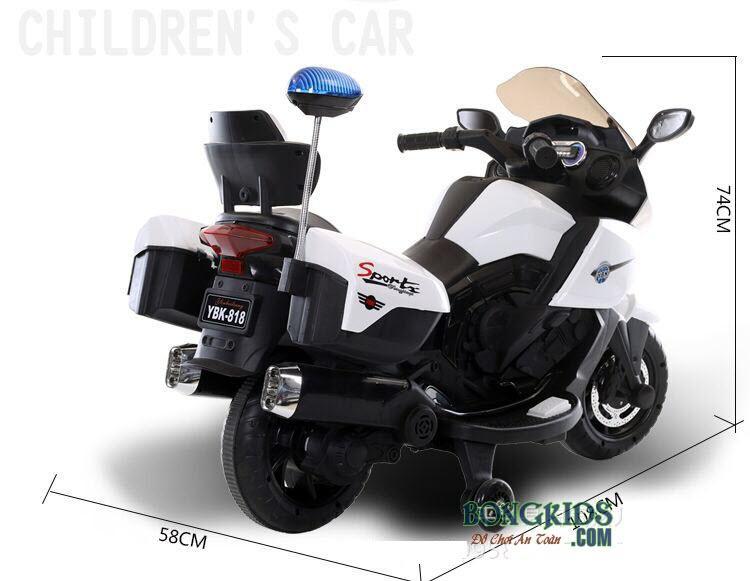 Kích thước xe máy điện trẻ em TJQ-5188