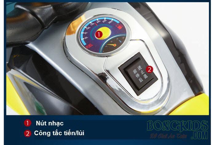 Chi tiết xe máy điện trẻ em 9801