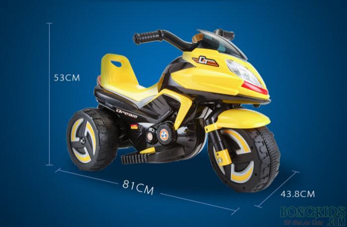 Kích thước xe máy điện trẻ em 9801
