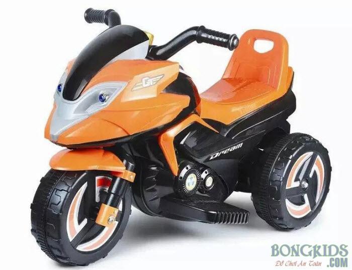 Xe máy điện trẻ em 9802 màu cam