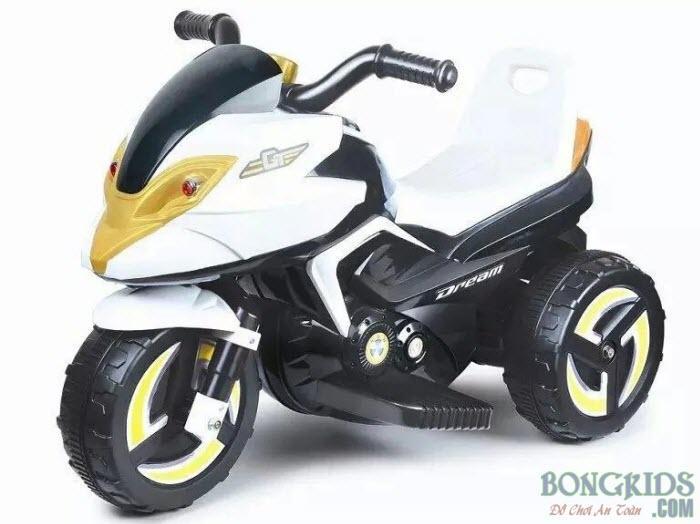Xe máy điện trẻ em 9802 màu trắng