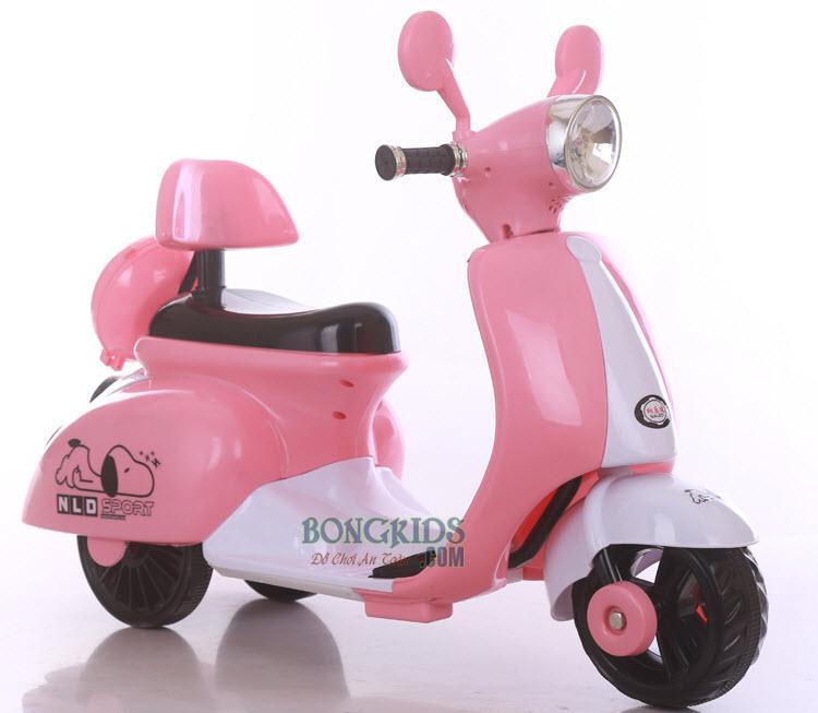 Xe máy điện trẻ em Vespa cho bé gái NLD-3279