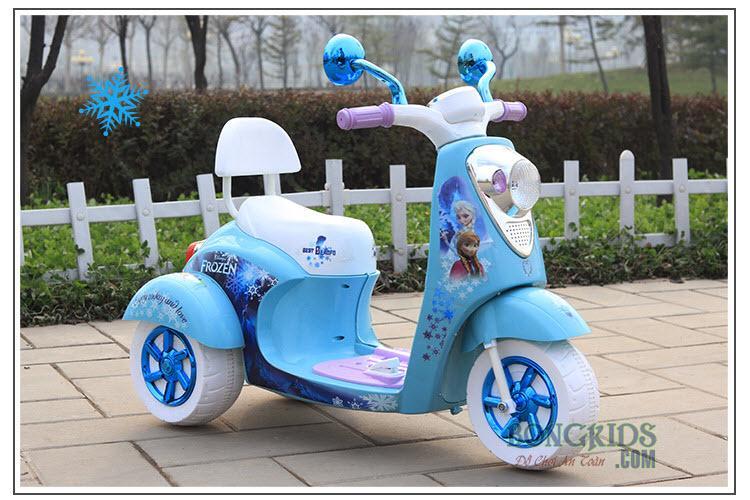 Xe máy điện công chúa Elsa