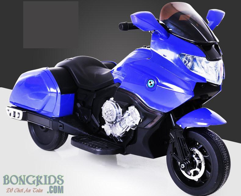 Xe máy điện trẻ em CX6606 màu xanh