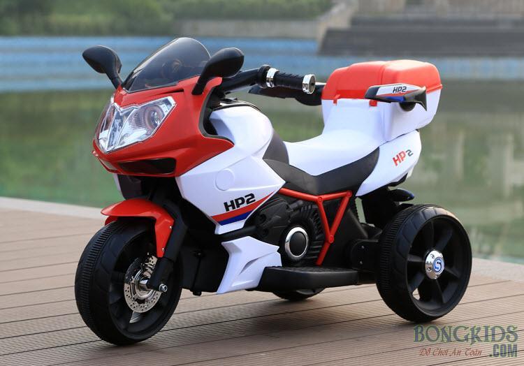 Màu trắng-đỏ Xe máy điện trẻ em dáng thể thao FB 6187