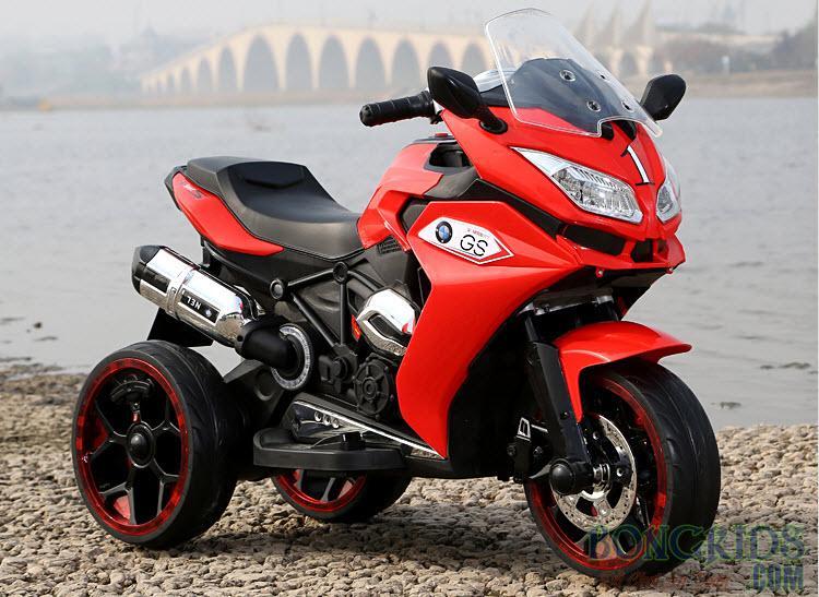 Xe máy điện trẻ em BMW R1200GS màu đỏ