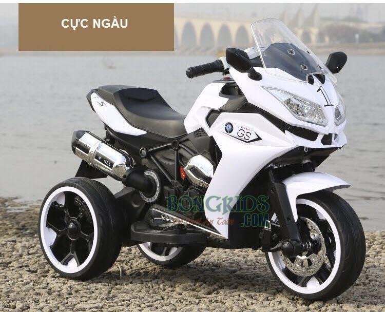 Xe máy điện trẻ em BMW R1200GS trắng