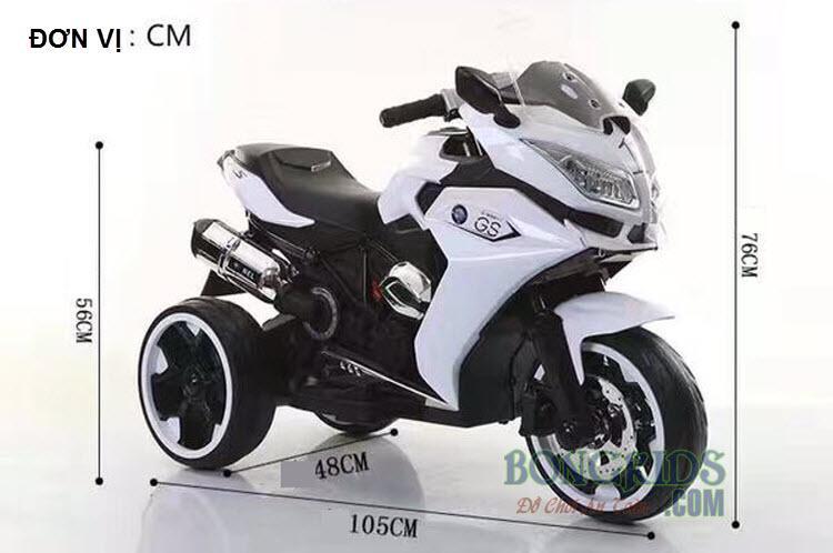 Kích thước xe máy điện trẻ em BMW R1200GS